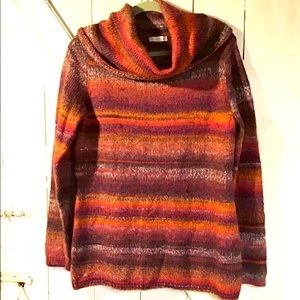 Soft cowlneck tunic length sweater LARGE